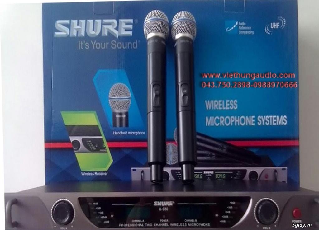 Micro không dây Shure U930 cho âm thanh chuẩn, giọng hát hay - 2