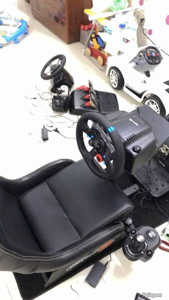 HCM - Bán bộ Vô Lăng đua xe G29 + Cần số + Bộ ghế. - 1