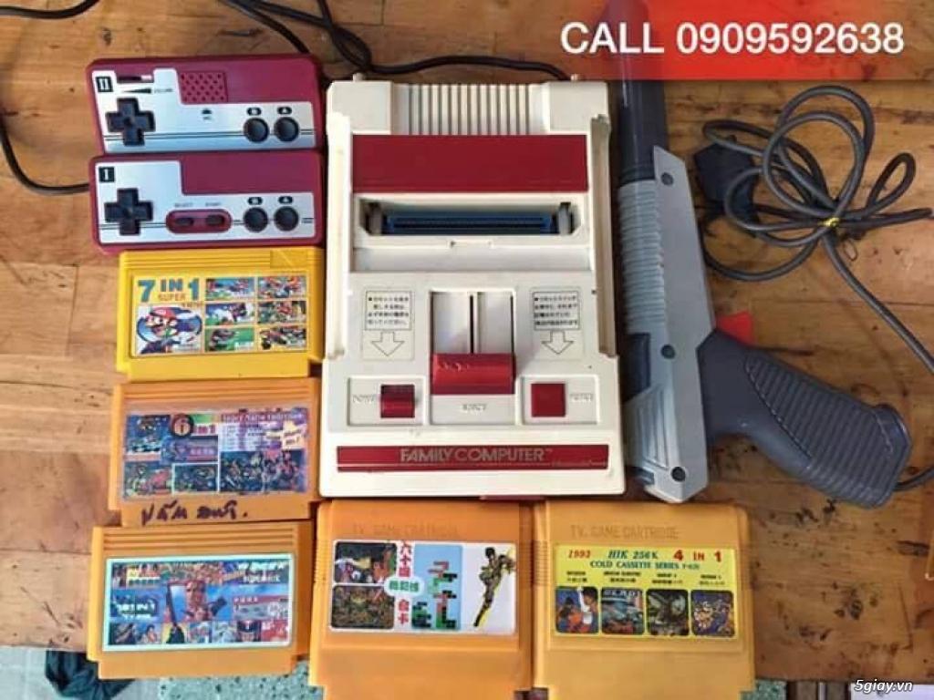 Máy Game Điện Tử Băng 4 nút Nhật , Thái, Đài Loan hàng cổ ngày xưa,có lun băng game, nes, snes, n64 - 3