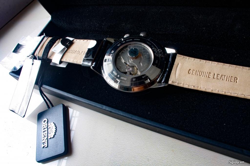 Orient Adventurer World Time 43mm dây da - 4