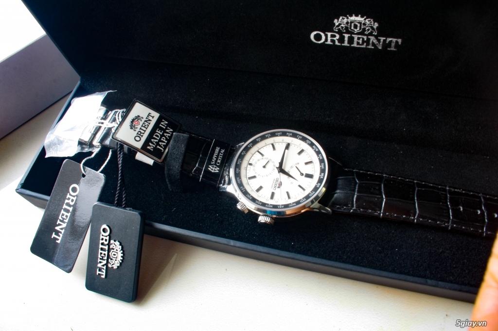 Orient Adventurer World Time 43mm dây da - 1