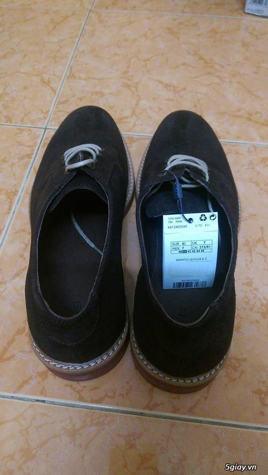 Giày da lộn Mango 100% size 41 + Brogue Banana Republic 99% size 43