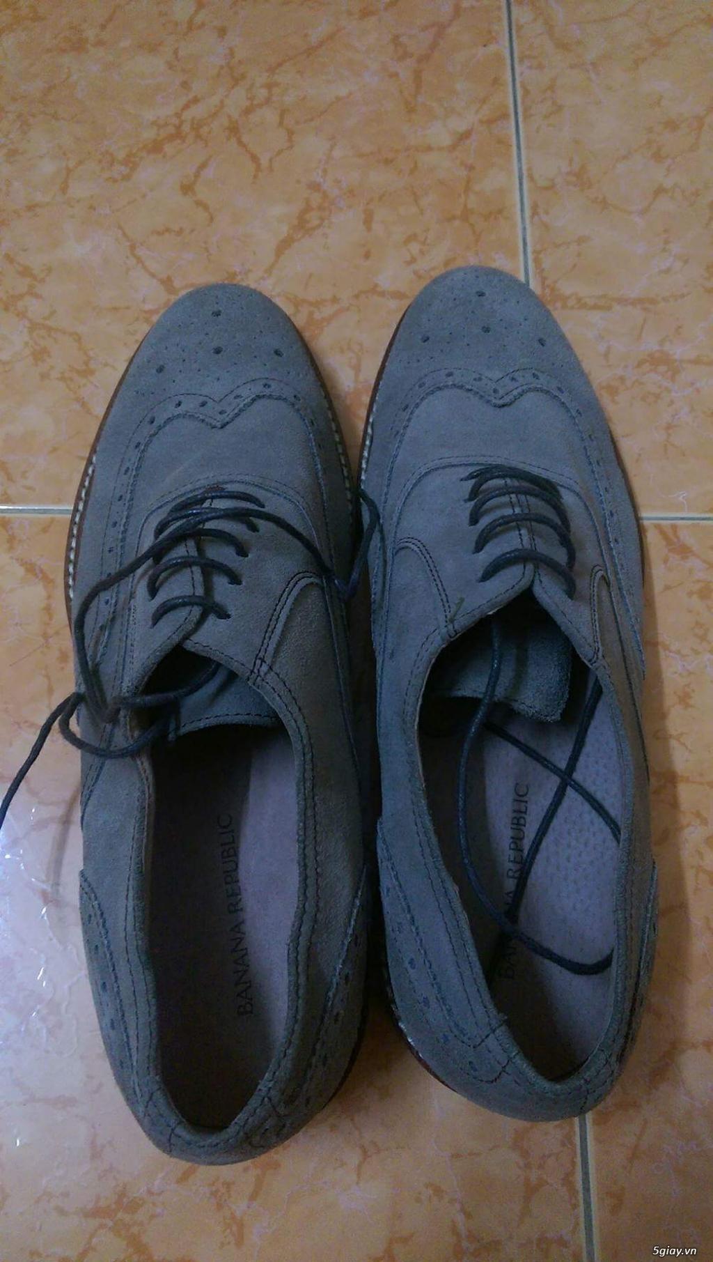 Giày da lộn Mango 100% size 41 + Brogue Banana Republic 99% size 43 - 5