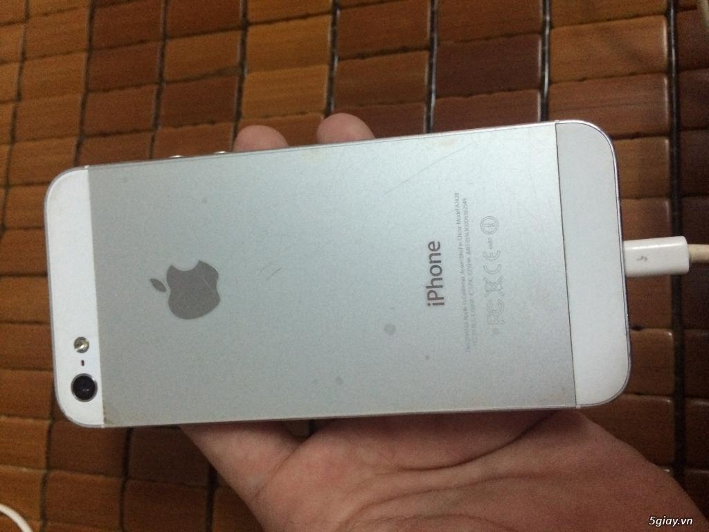 iphone 5 lock 32G cu white vỏ zin - 1