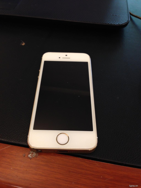 Iphone 5s 32gb gold quốc tế zin mới 99% b.hành 12 tháng
