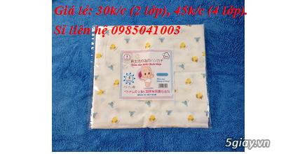 Chuyên sản xuất các mặt hàng khăn xô, khăn sữa, khăn tắm sơ sinh - 1