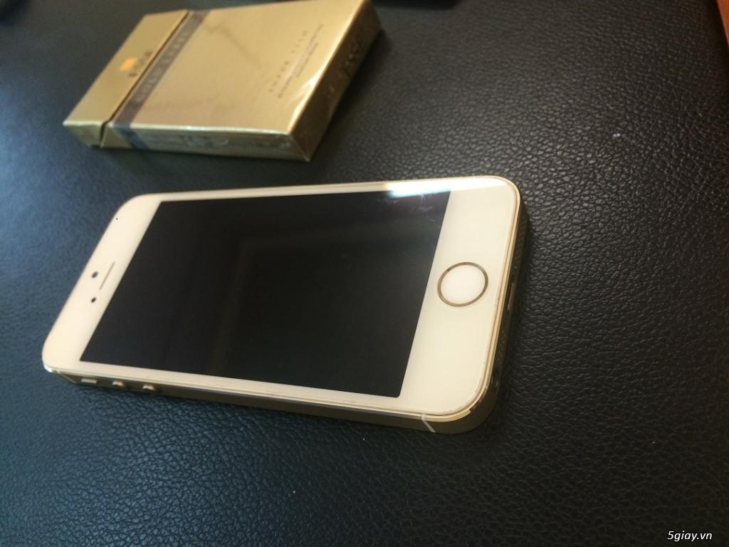 Iphone 5s 32gb gold quốc tế zin mới 99% b.hành 12 tháng - 2