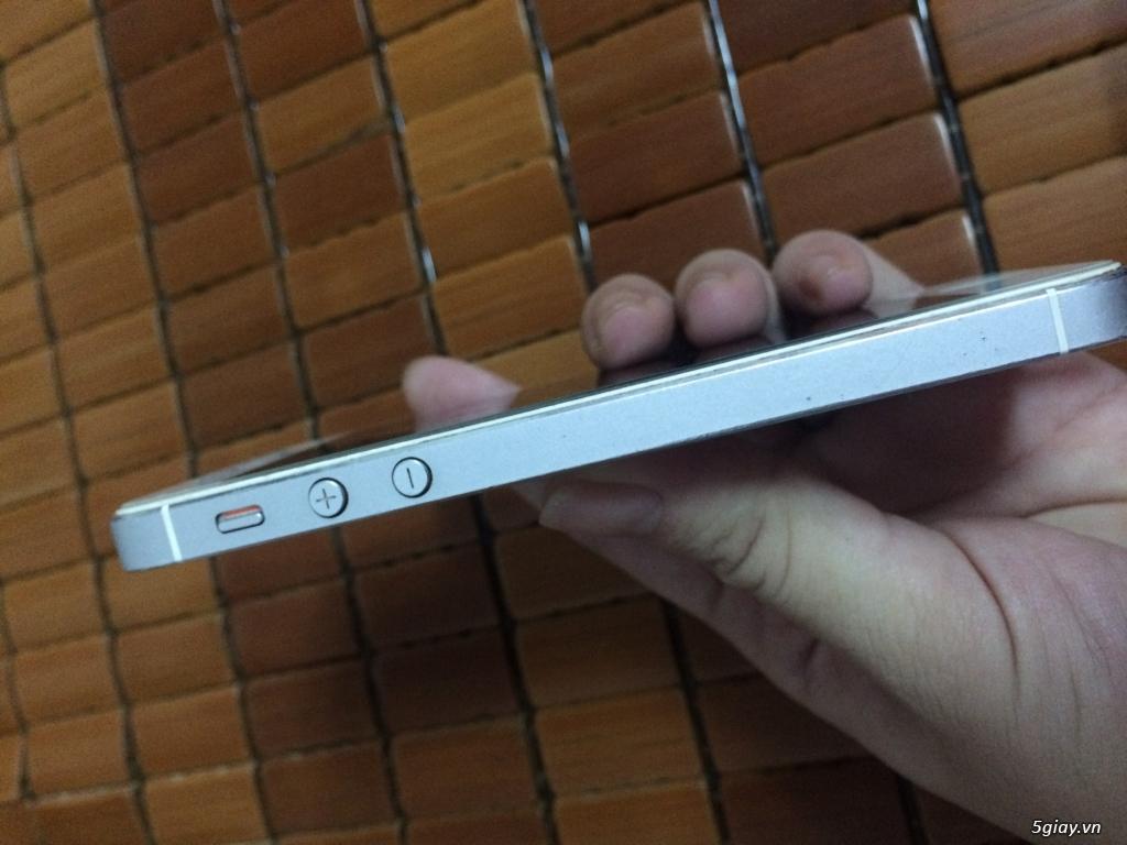 iphone 5 lock 32G cu white vỏ zin