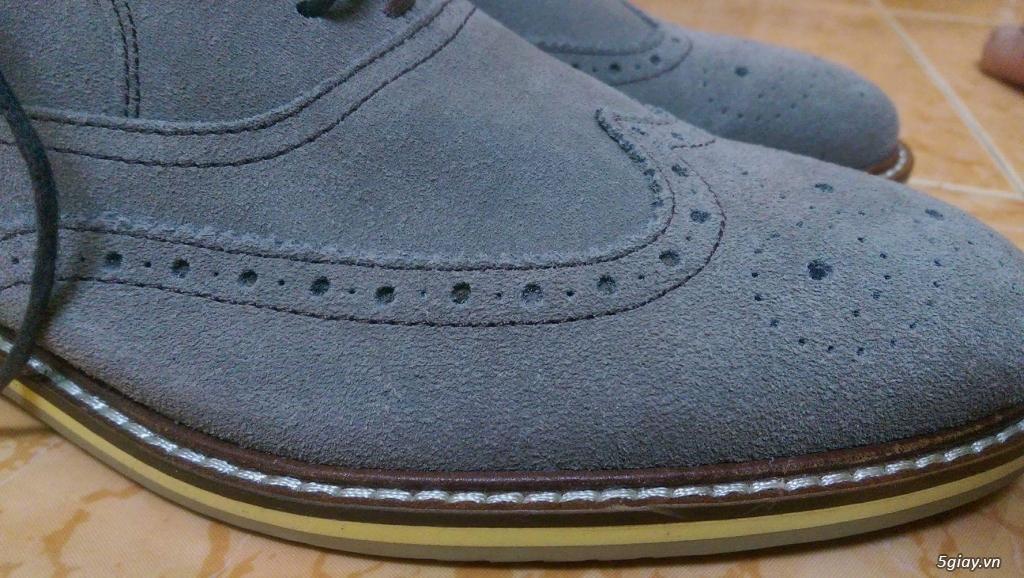 Giày da lộn Mango 100% size 41 + Brogue Banana Republic 99% size 43 - 10