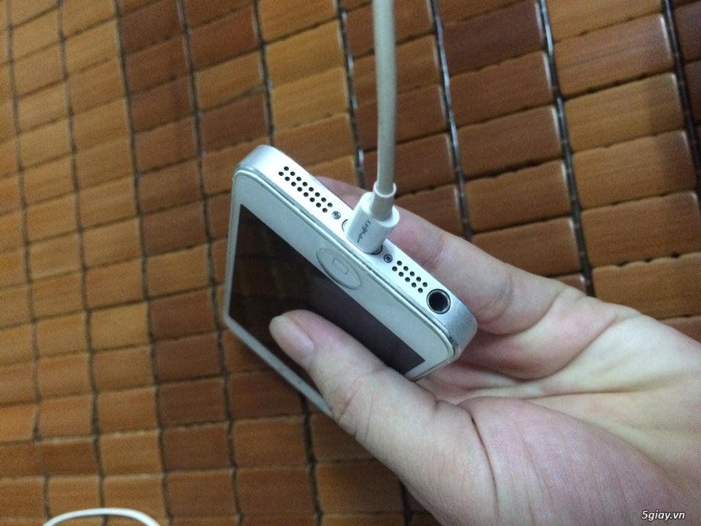 iphone 5 lock 32G cu white vỏ zin - 2