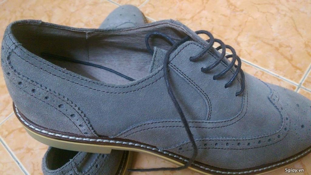 Giày da lộn Mango 100% size 41 + Brogue Banana Republic 99% size 43 - 9