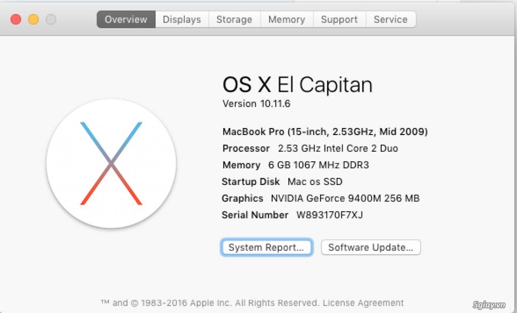 Cần bán macbook pro 15.4 inch mid 2009 - 3