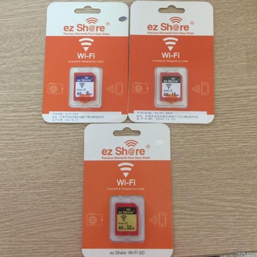 Thẻ nhớ EzShare Wifi SD Memory Card 8,16,32 GB. chia sẻ hình ảnh ngay