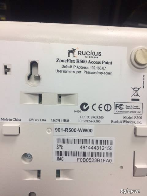 Thanh Lý Ruckus Wireless Access Point ZoneFlex R500 - 1