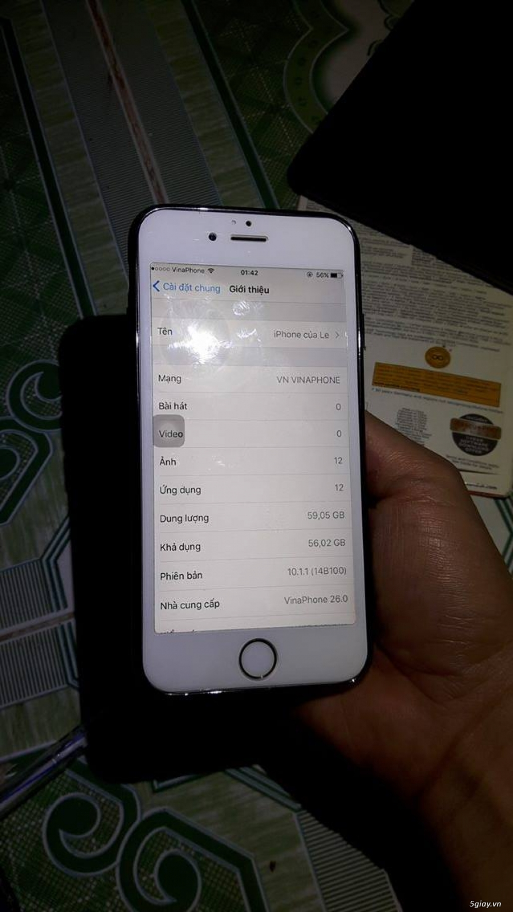 iphone 6 gold 64gb fpt còn bh 2-2017 - 1
