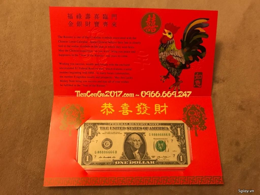 {Giảm Ngay 20%} 1 USD Đinh Dậu, Tứ quý 8888, do Mỹ phát hành = 279k - 1