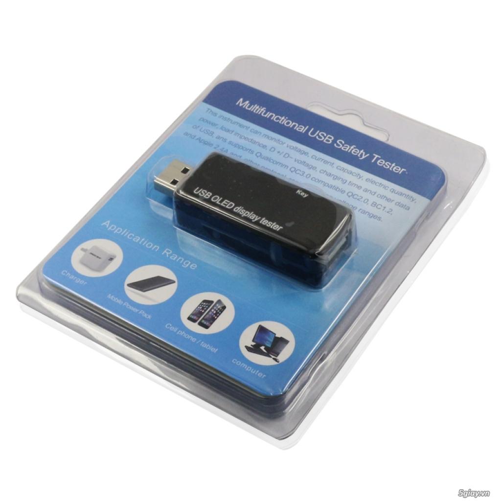 Bộ USB test đo dòng sạc điện thoại, kiểm tra pin sạc dự phòng, cục sạc - 8