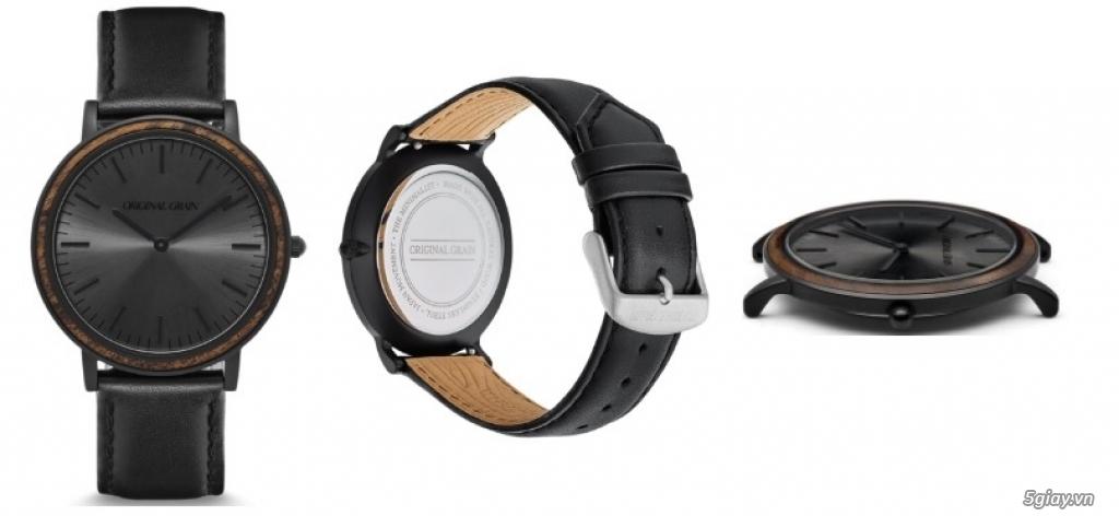 HCM - Đồng hồ ốp gỗ của Original Grain Watches fullbox new 100% từ USA - 4