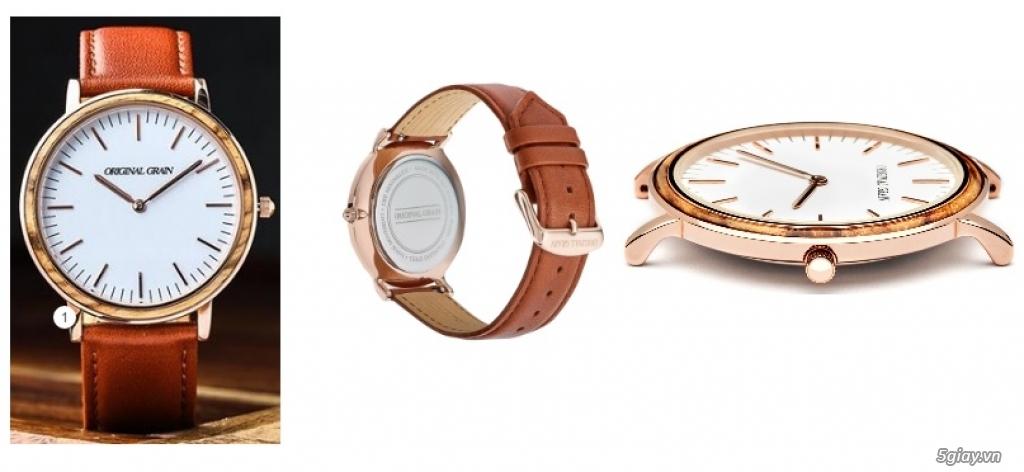 HCM - Đồng hồ ốp gỗ của Original Grain Watches fullbox new 100% từ USA - 1