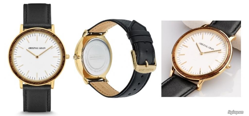 HCM - Đồng hồ ốp gỗ của Original Grain Watches fullbox new 100% từ USA