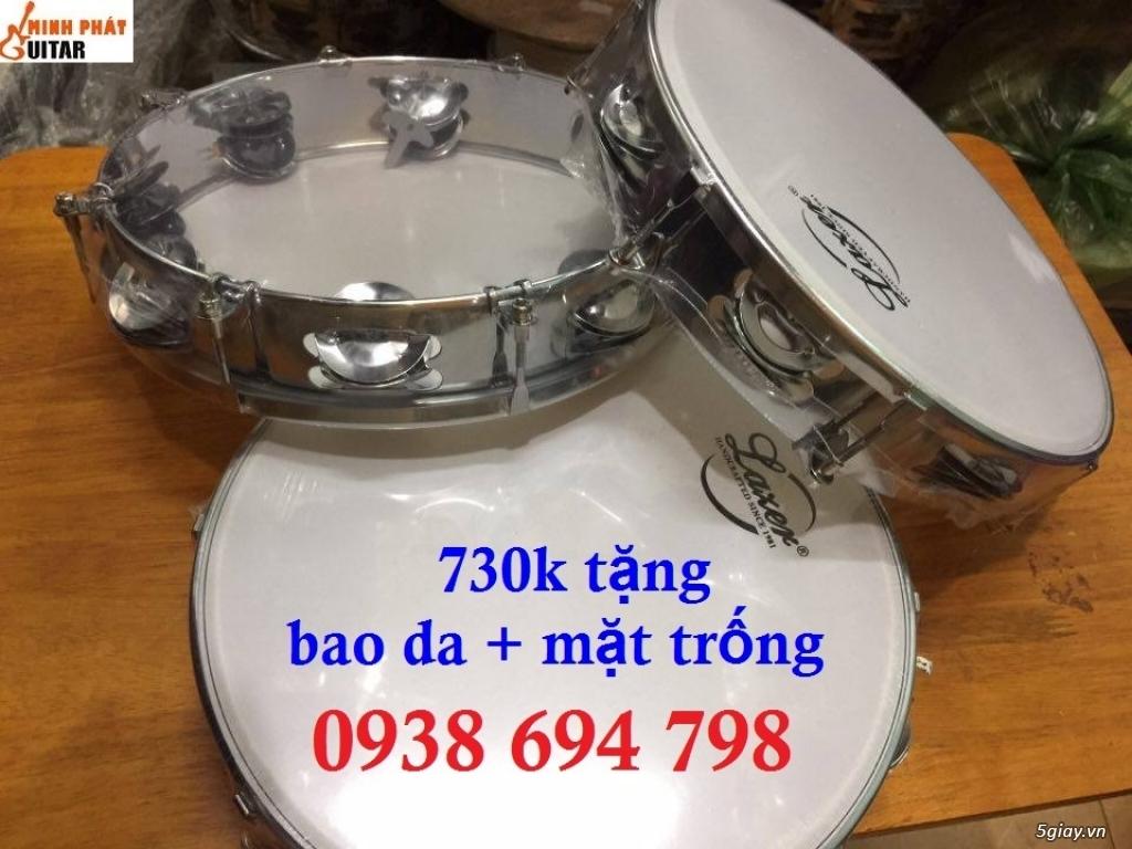 Trống gõ bo, trống lục lạc cầm tay, trống tambourine, trống lắc tay chơi nhạc chế - 5