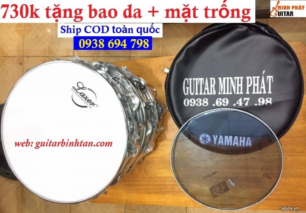 Trống gõ bo, trống lục lạc cầm tay, trống tambourine, trống lắc tay chơi nhạc chế - 4