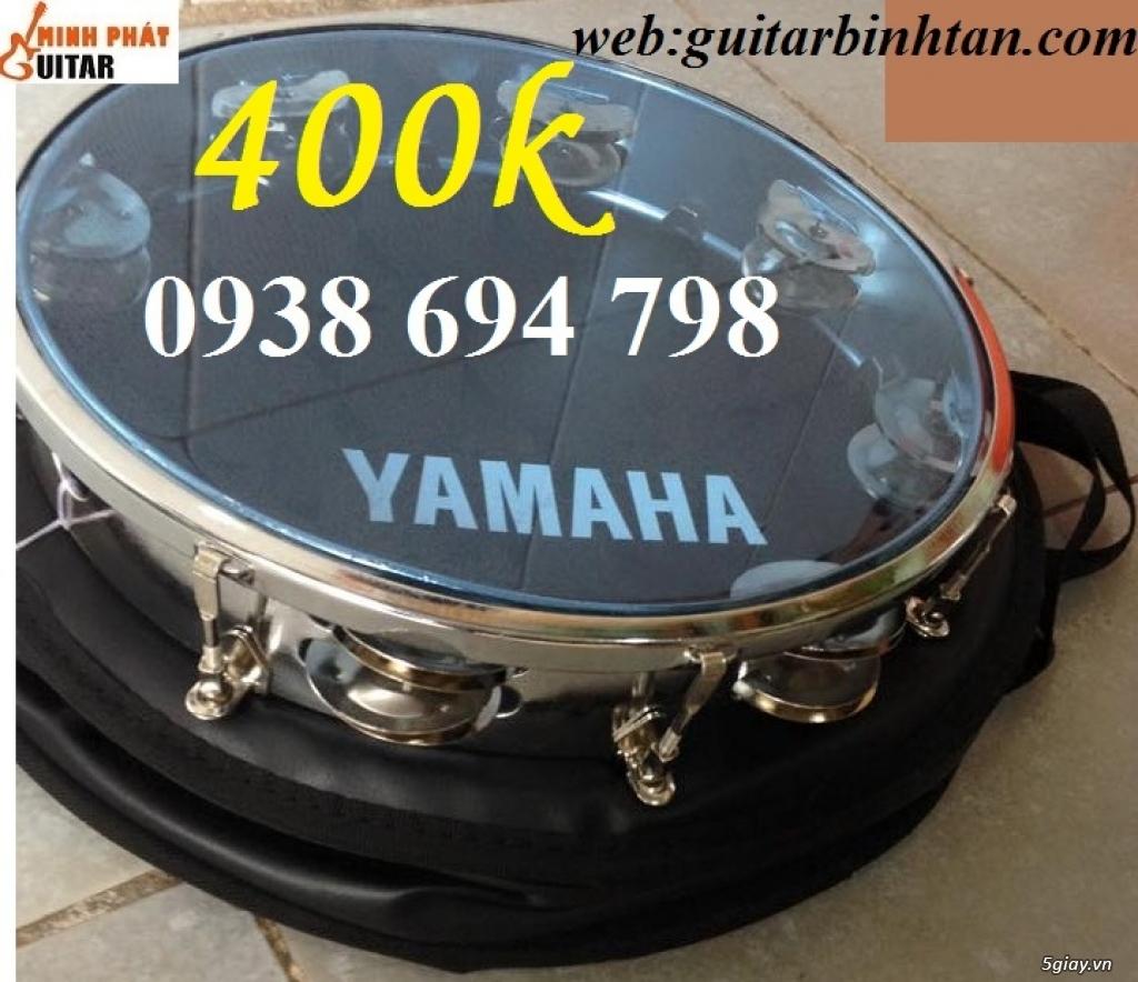 Trống gõ bo, trống lục lạc cầm tay, trống tambourine, trống lắc tay chơi nhạc chế - 1