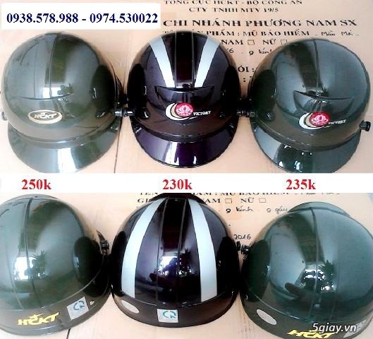 nón bảo hiểm công ty 19/5 BCA, dây nịt nam sĩ quan, mũ bảo hiểm HCKT - 4