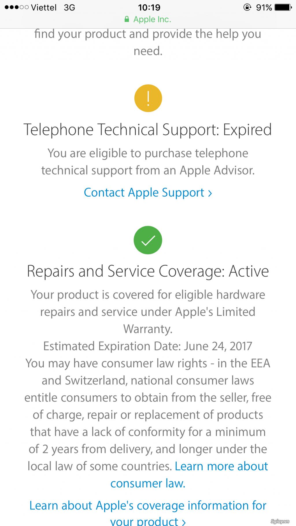 Bán iphone 6s plus 16gb 99% còn BH apple gần 7 tháng. - 1