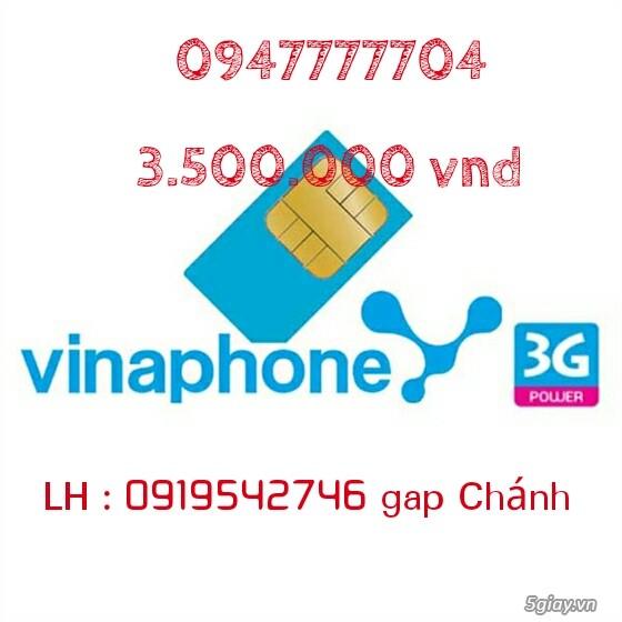 Đăng bán lại sim vina 0947777704 giá rẻ 3tr5