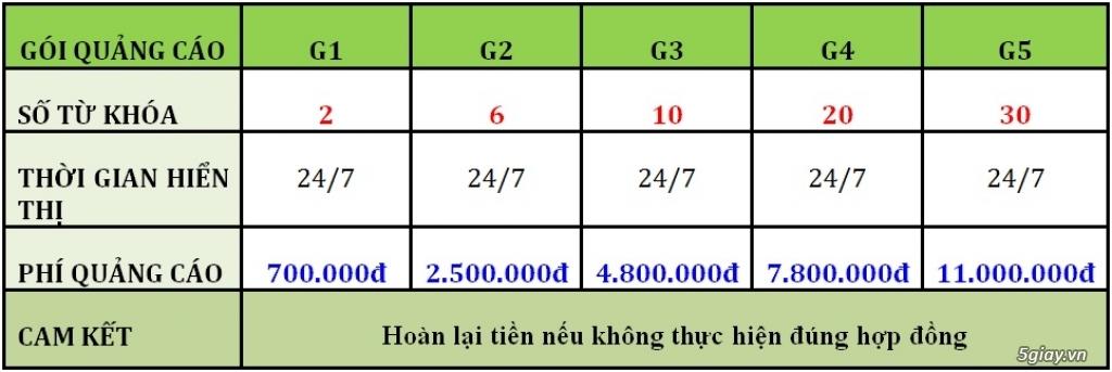250.000 Đ/THÁNG QUẢNG CÁO TRÊN TRANG NHẤT GOOGLE - 1