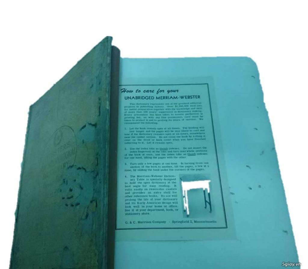 Bán từ điển Webster's nặng 5kg - 1,5 triệu - 1