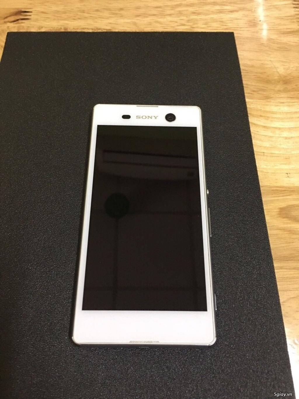 Sony m5 màu trắng đẹp leng keng qtế hàng xách tai nguyên zin - 4