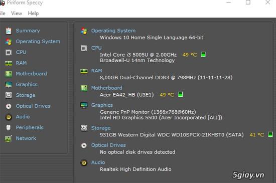 Laptop cảm ứng 2 trong 1 acer aspire r3 471t 3360 màu trắng - 6