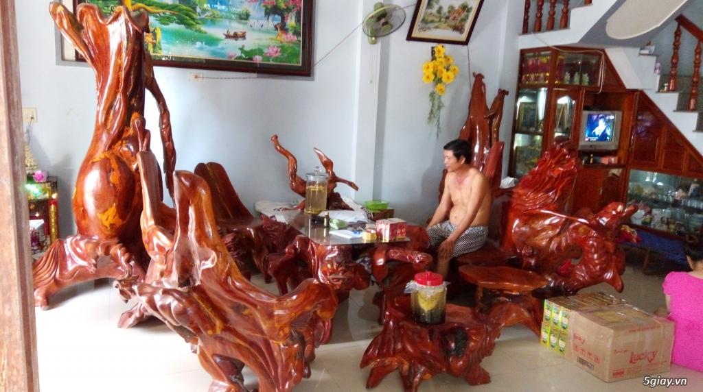Bàn ghế từ gốc cà te