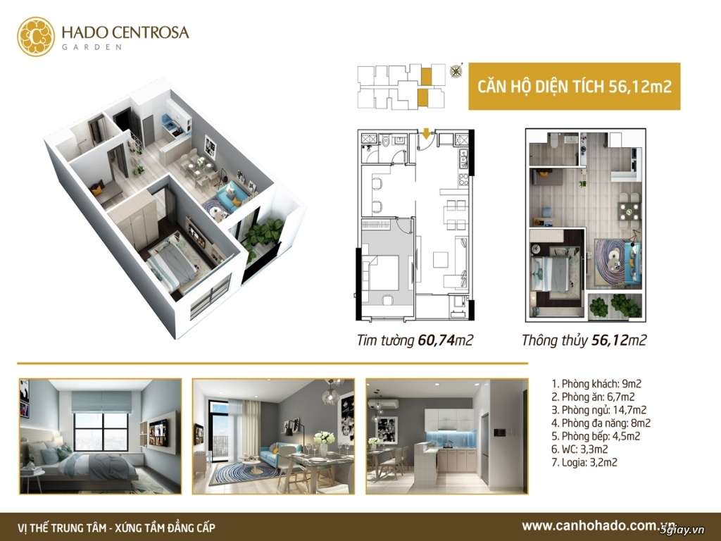 Cần bán căn hộ Hà Đô Sentrosa đường 3/2, Quận 10 DT 56.12m giá gốc