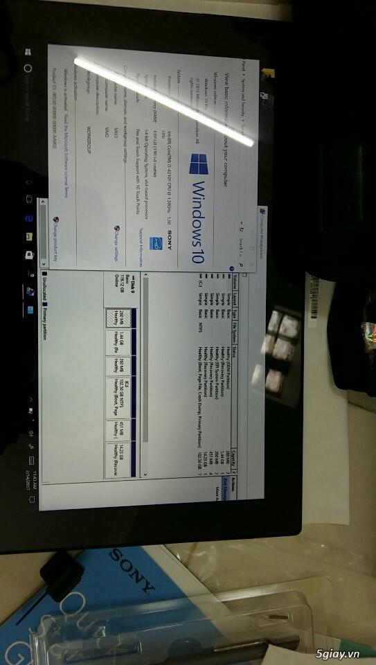LAPTOP - HàngHiếm-Sony Vaio TAP 11 Tablet Touch 2014 Siêu Nhẹ780gam,ThếHệ4,Core Likenew 99%- Giá Tốt - 36