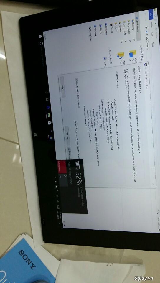 LAPTOP - HàngHiếm-Sony Vaio TAP 11 Tablet Touch 2014 Siêu Nhẹ780gam,ThếHệ4,Core Likenew 99%- Giá Tốt - 40