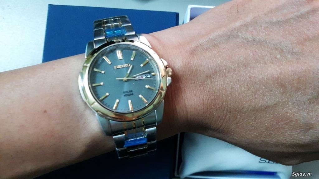 Cần bán đồng hồ Seiko Men's SNE098 hàng Mỹ - 3