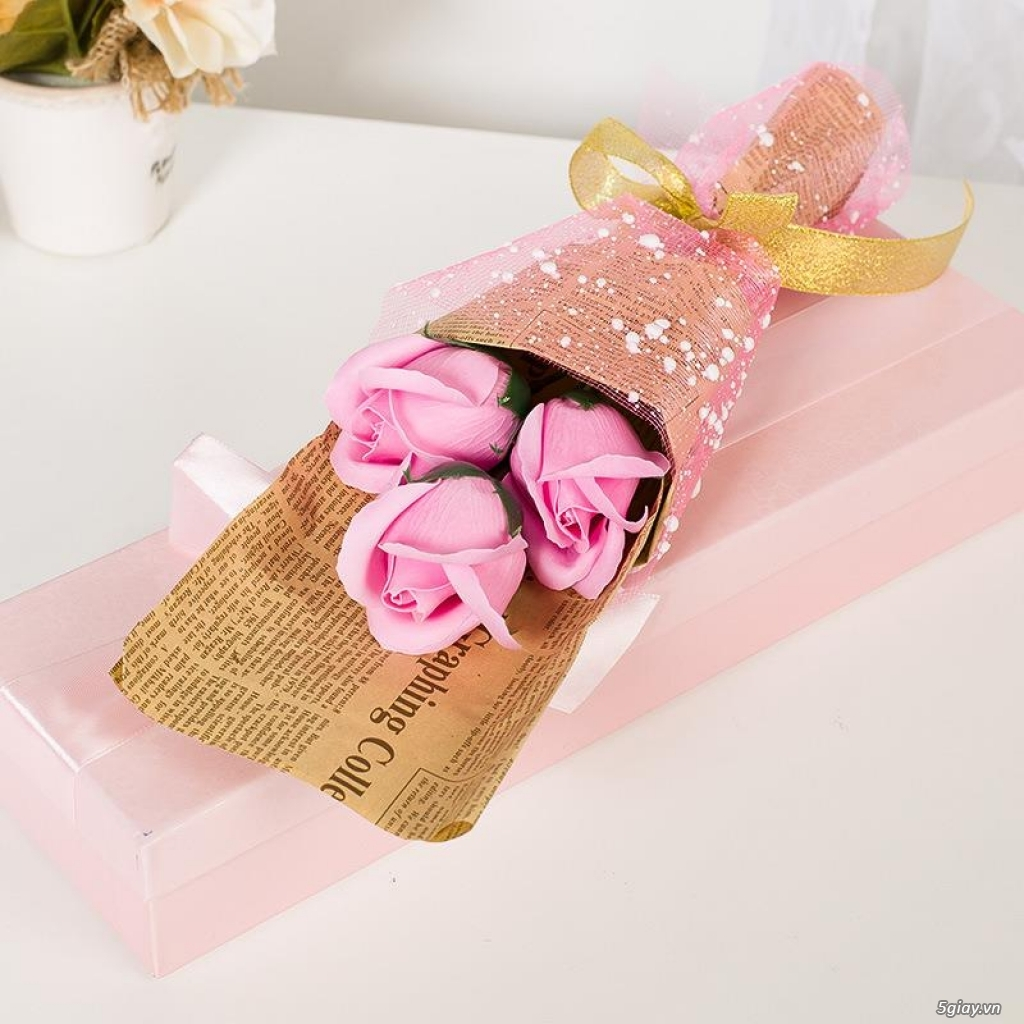 Hoa Hồng Mạ Vàng - Hoa Sáp Thơm Gift Shop - TiMon Shop Online - 20