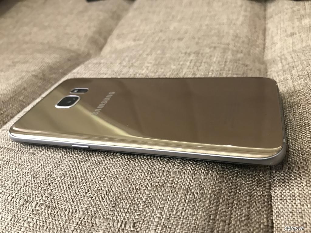 Samsung S7 Edge Gold, hàng Chính Hãng , kèm S View, Sạc Ko Dây, bao da - 1