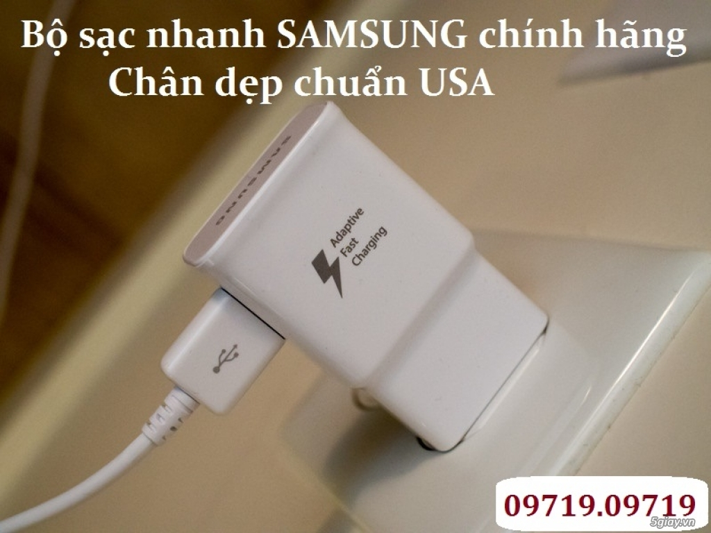 Bộ sạc nhanh Fast Charge Samsung Note4/Note5 S6/S7/S7 Edge - Hàng xuất USA
