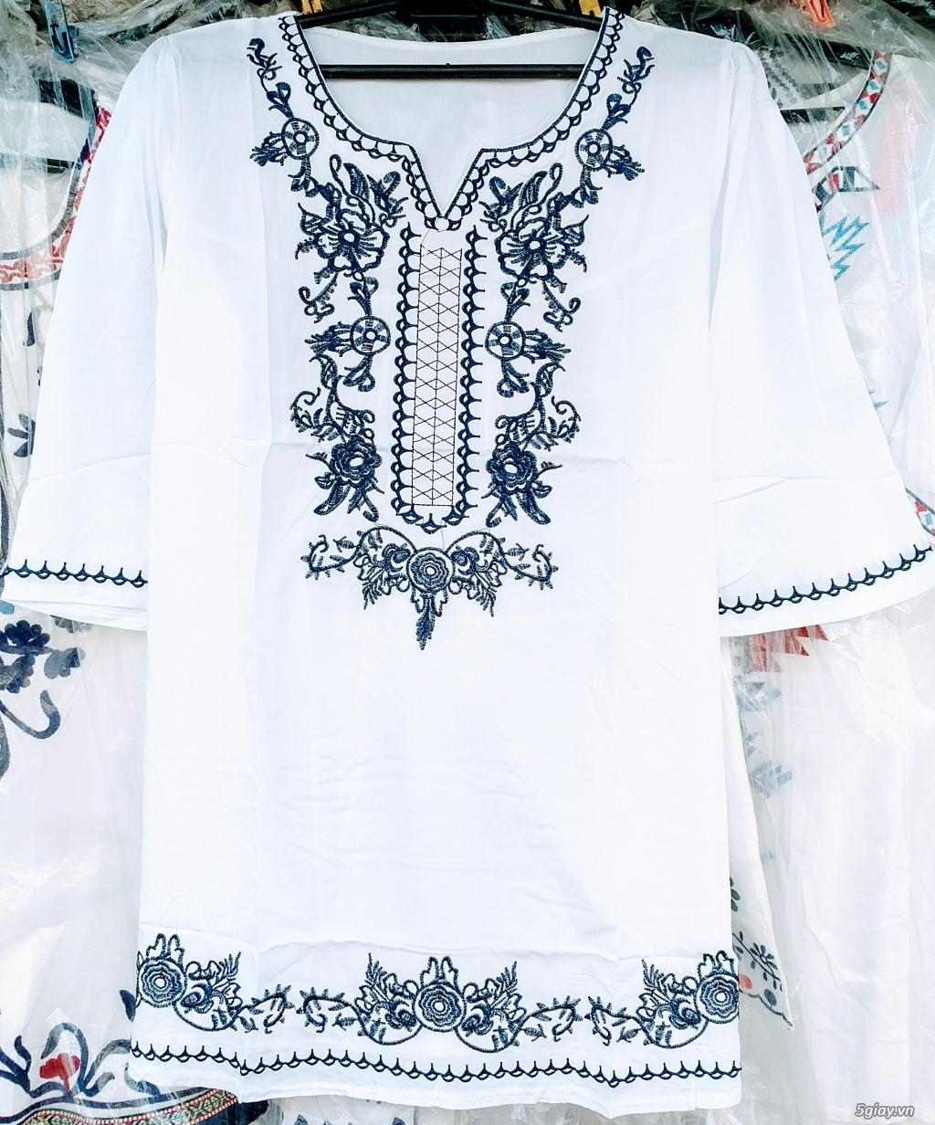 Thời trang nữ trung niên CHÂU( đợt 30): Tuyển tập mẫu áo font vừa, dài - 3