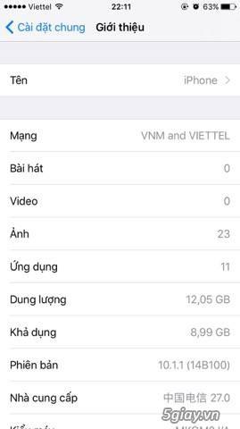 Bán iphone 6s-16gb-rose gold-lock nhật 99% zin all nguyên bản. - 5