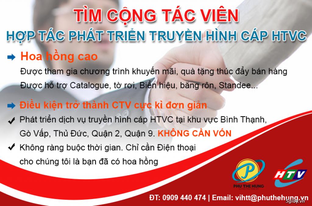 Tìm Đại Lý, CTV hợp tác phát triển truyền hình cáp HTVC tại TPHCM - 1