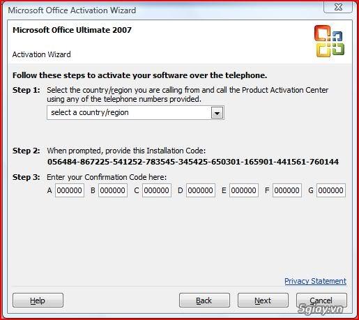 Microsoft Office Ultimate 2007 Confirmation Code Generator