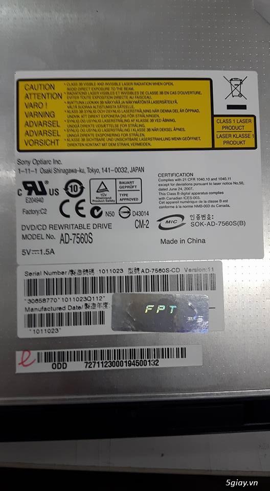Adapter, DVD-RW, Wifi, LCD Laptop 14, 15, 15.6 Hàng Zin Tháo Máy - 5