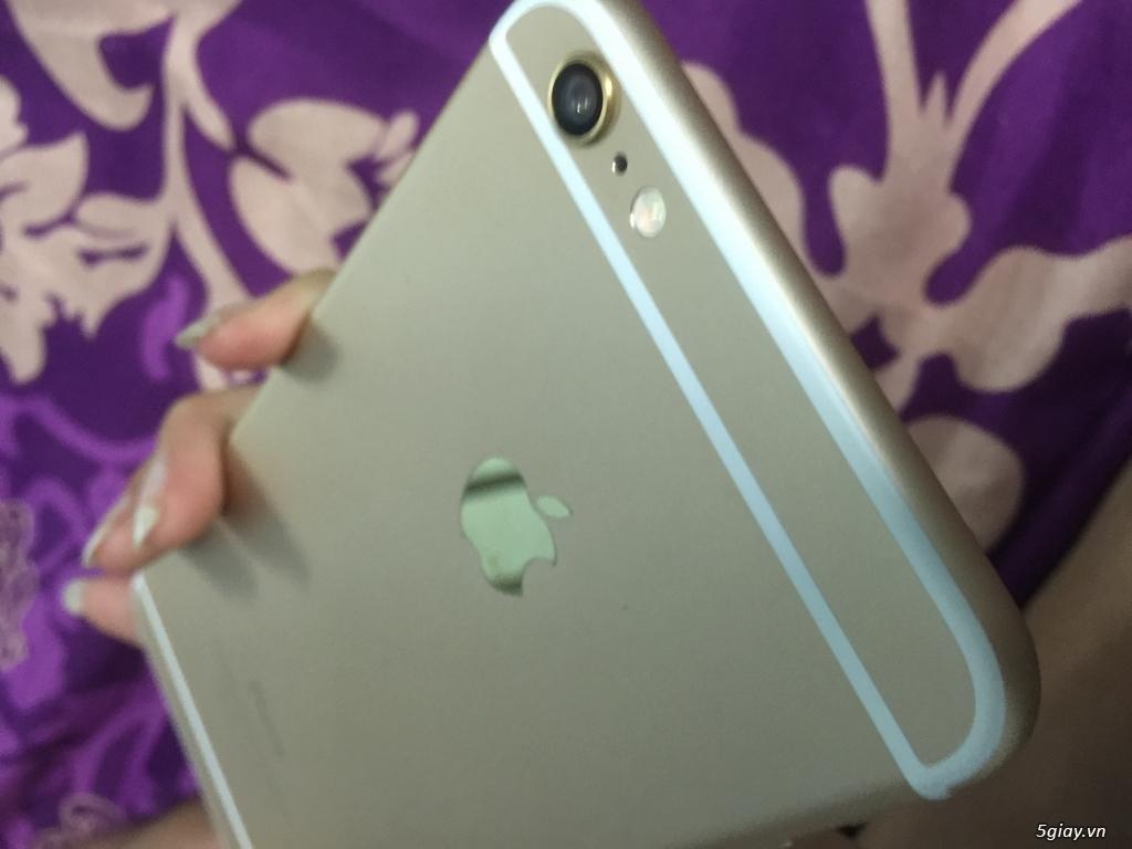 Iphone 6 plus 16g quốc tế màu gold, van tay nhạy, zin 100%