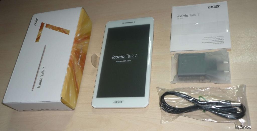 Acer Iconia Talk 7 B1-733 (mới 100%, bảo hành 9 tháng chính hãng)