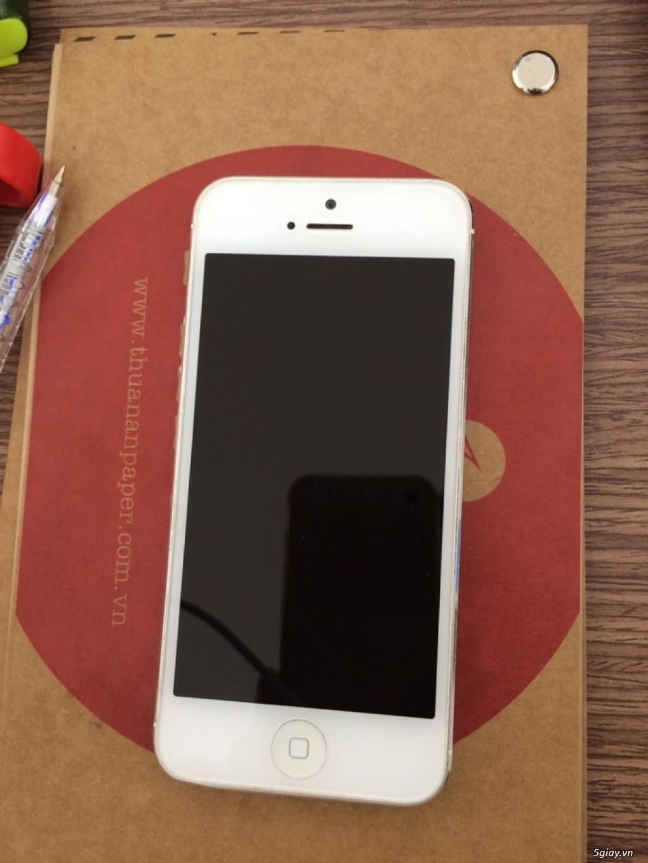 iphone 5 32gb trắng quốc tế like new zin 99% nữ sài - 3